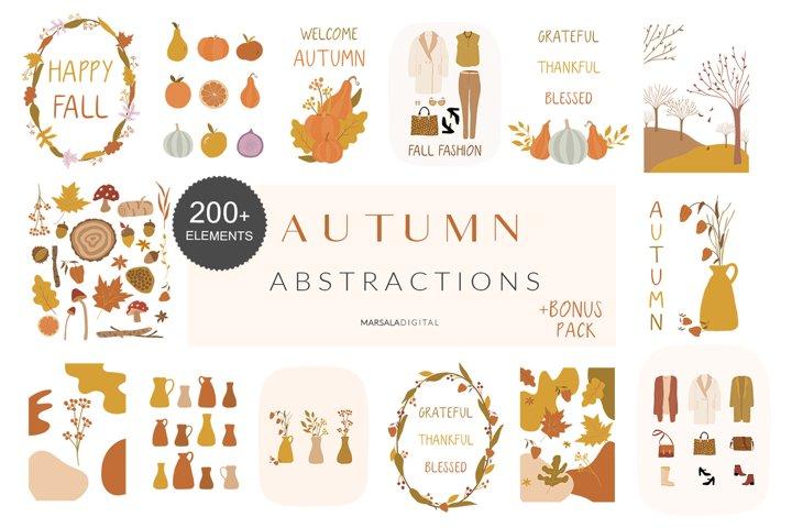 Autumn Clipart, Fall Clip Art Vector, Autumn Pumpkins, Fall