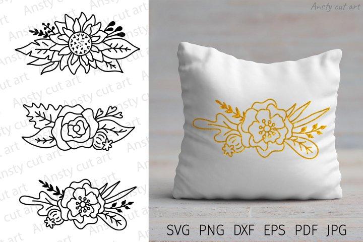 Flower svg. Flowers svg cut files for Cricut. Floral SVG.