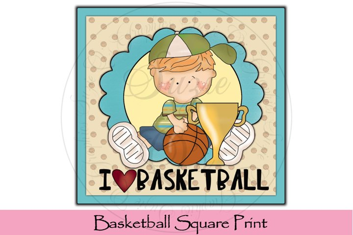 Basketball Square Print