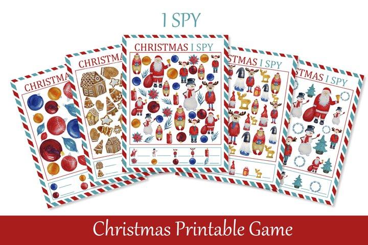 I Spy Christmas Printable Game for Kids