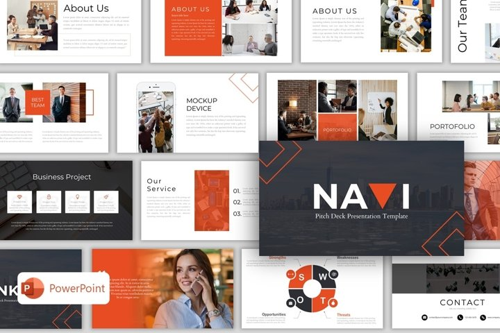 Pitch Deck PowerPoint Template - Navi