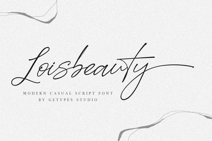Loisbeauty | A Signature Font