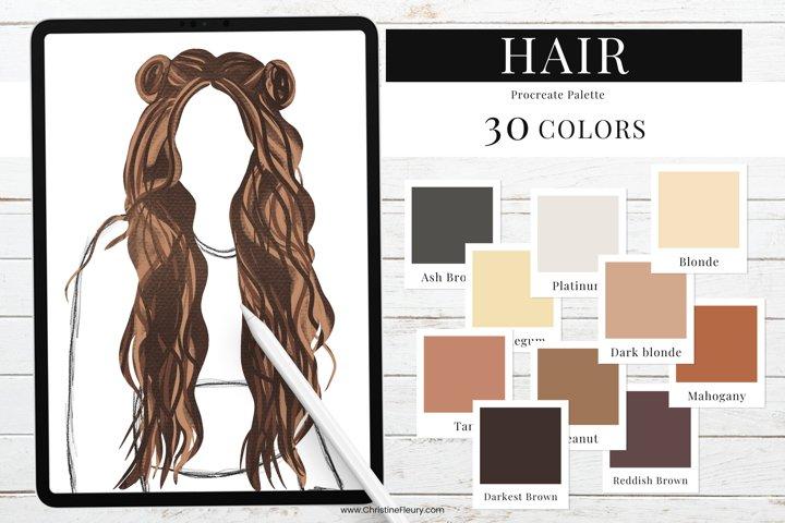 Procreate Color Palette - Hair color