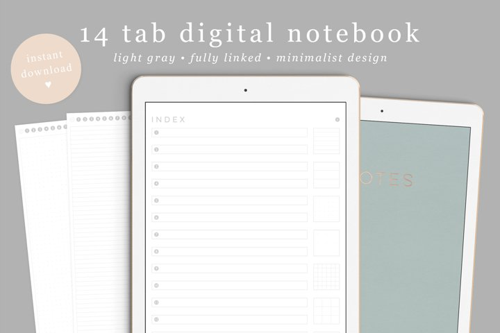 Digital Notebook Goodnotes linked