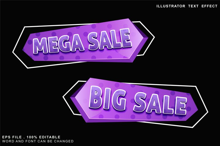 sale editable text effect logo banner