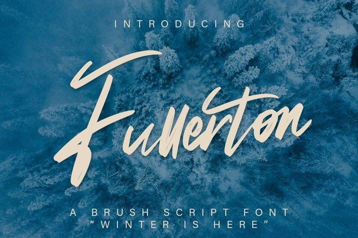 Web Font Fullerton - Brush Script Font