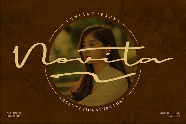 Novita   A Beauty Signature Font