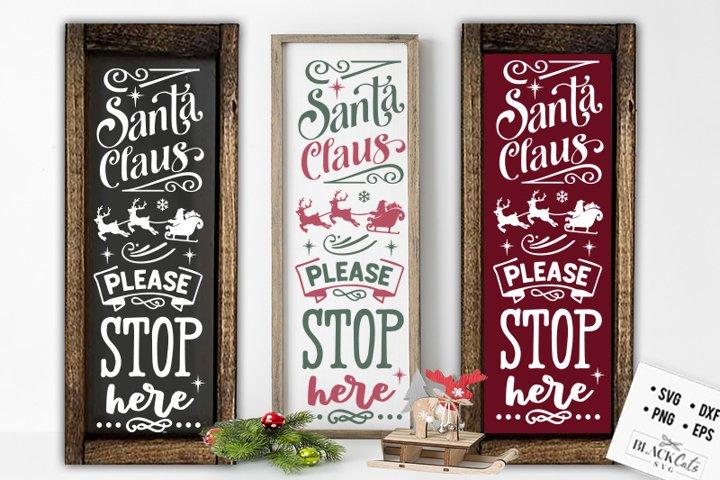 Christmas porch sign SVG Long sign Santa SVG example