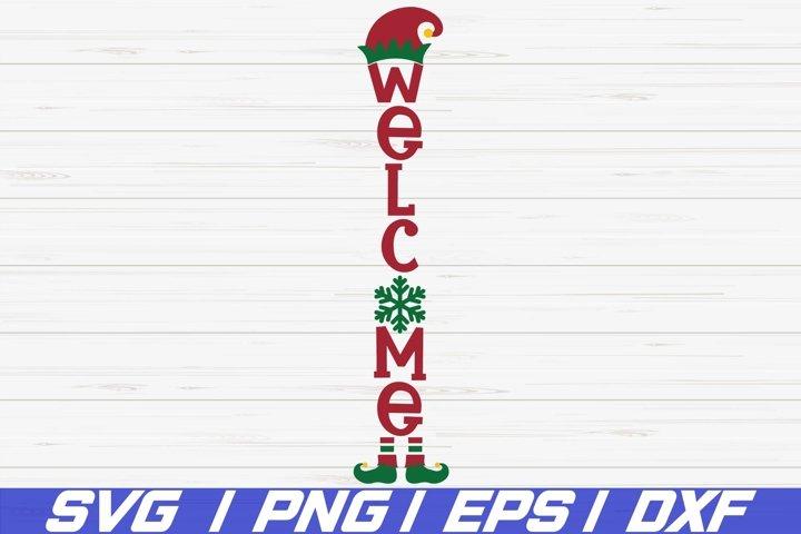 Welcome SVG / Christmas Porch Sign SVG / Vertical Sign SVG