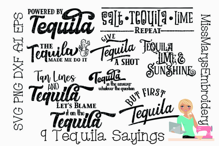 Tequila SVG Bundle | Tequila Cut File | Alcohol & Drinks SVG