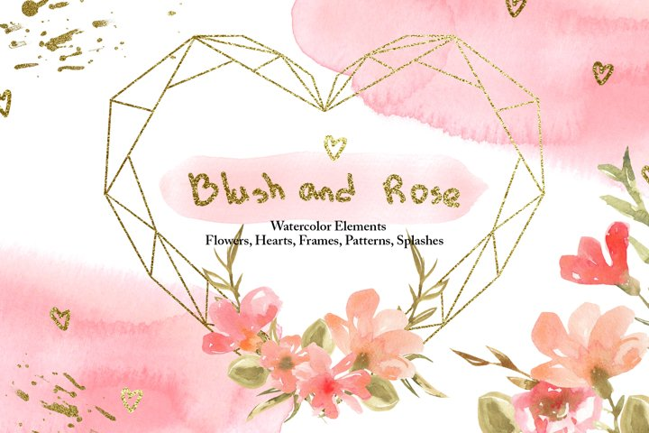 Watercolor Blush and Rose Collection
