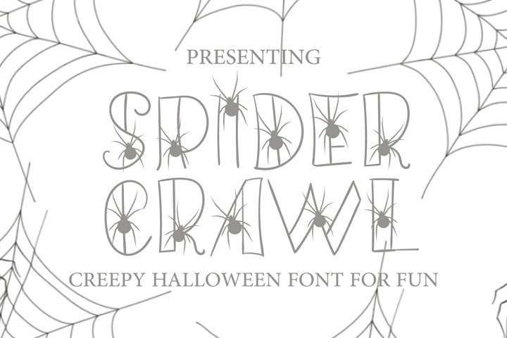Hand Drawn Spider Font - Spider Crawl for Fun Projects