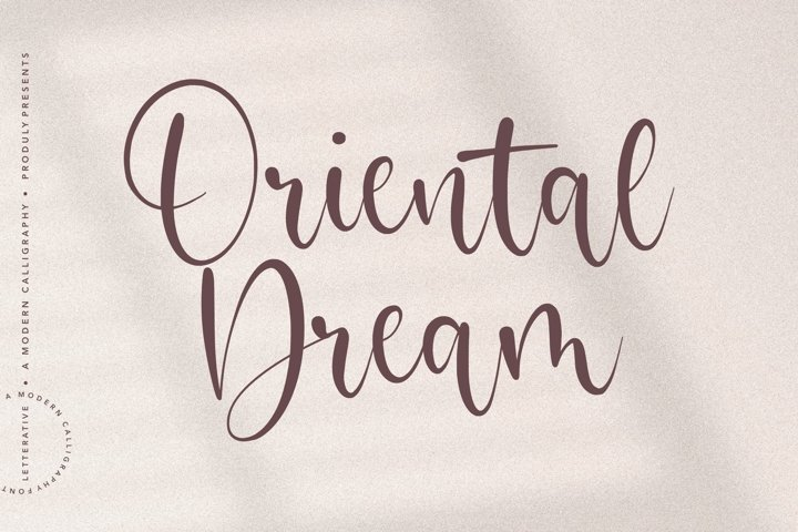 Oriental Dream Modern Calligraphy Font