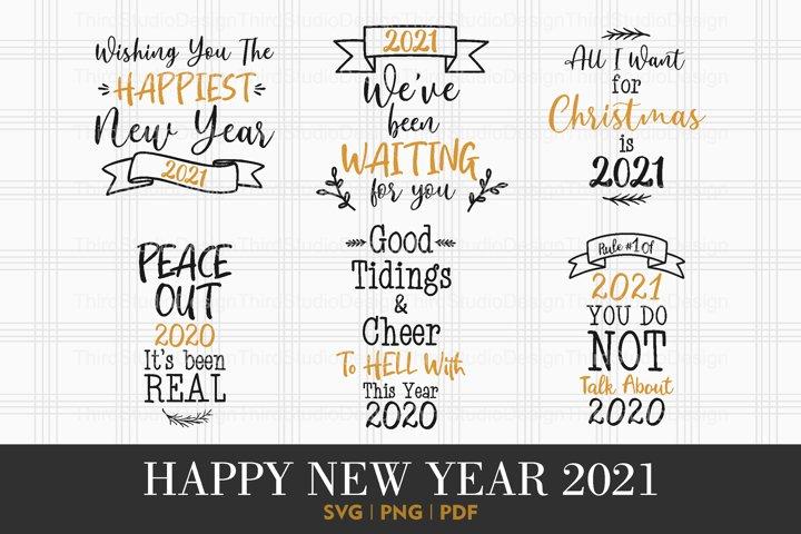 Happy New Year 2021 svg   Happy New Year svg   Vol 2