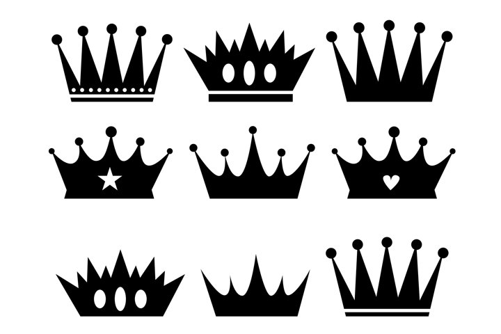 Crown svg bundle. King royal png for DIY project. Silhouette