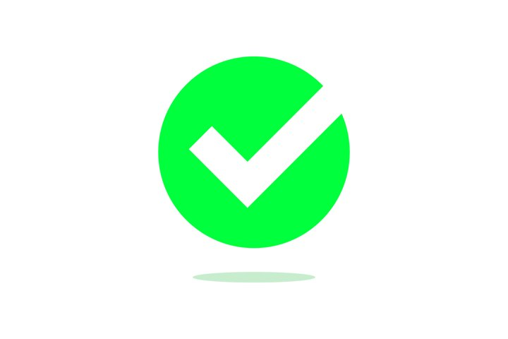 Checkmark green vector check icon Illustration