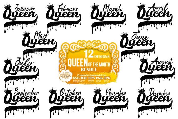 Black Woman SVG Bundle | Black Queen SVG | Dripping SVG