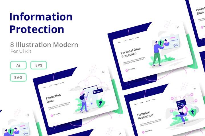 Information Protection set Illustration