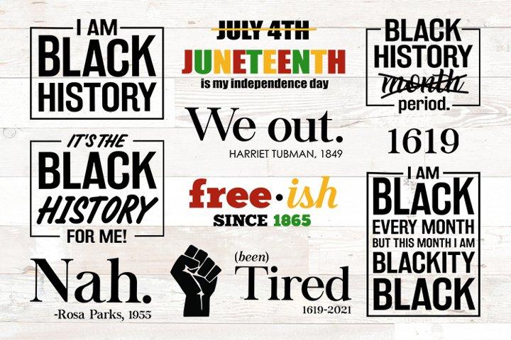 Black History Month svg bundle designs