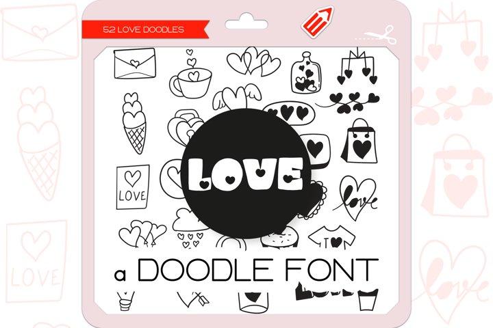 Love Doodles - Dingbats Font