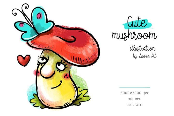 Cute Mushroom illustration