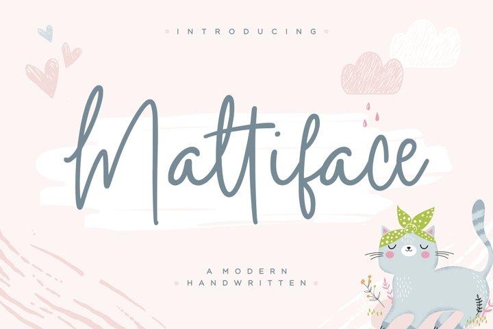 Mattiface Modern Handwritten Font
