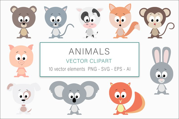Sublimation clipart - Animals Vector