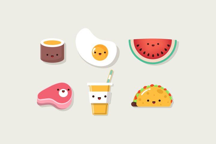 Flat Food Icon Illustration