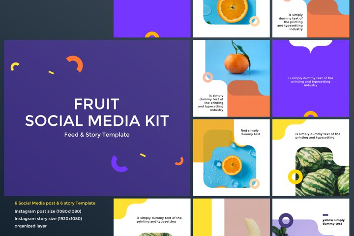 Fruit Social Media Kit 01