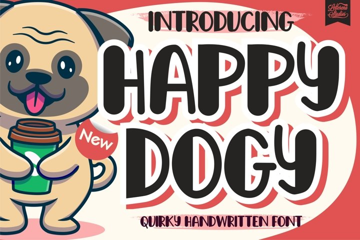 Happy Dogy - Quirky Handwritten Font