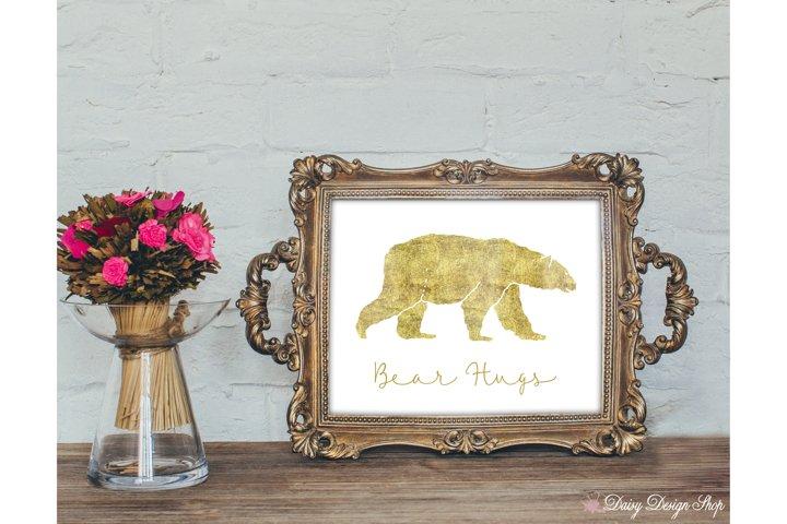 Glitter Bear Art Print - Nursery or Home 8x10 Printable
