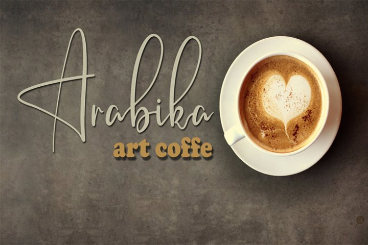 Arabika Art Coffe Signature Font