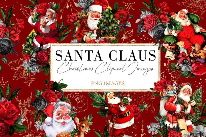 Santa Claus   54 Clipart Elements