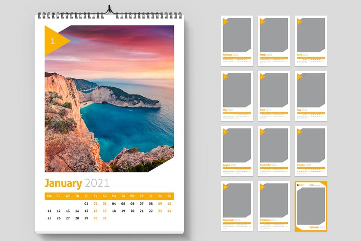 Wall Calendar 2021 Creative Template