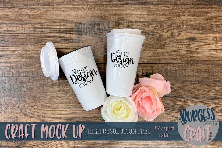 Double travel mug   Craft mock up