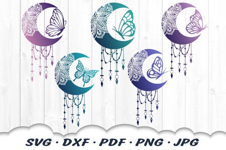 Butterfly Mandala Dream Catcher SVG Bundle DXF Cut Files
