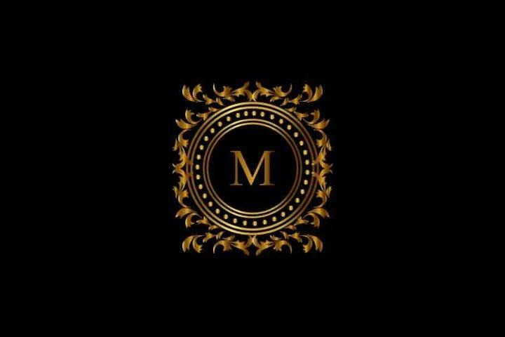 Vintage monograms M letter logo. corporate logo