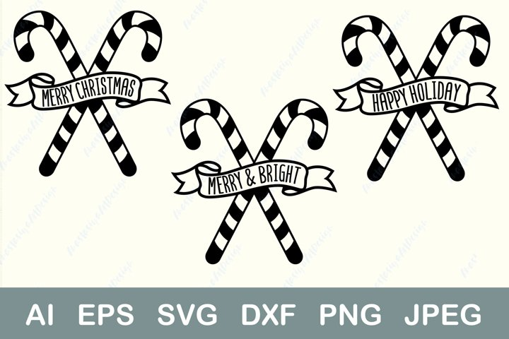 Merry christmas svg, Happy holiday svg, Merry and bright svg