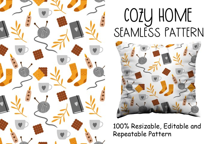 Cozy Home Seamless Pattern
