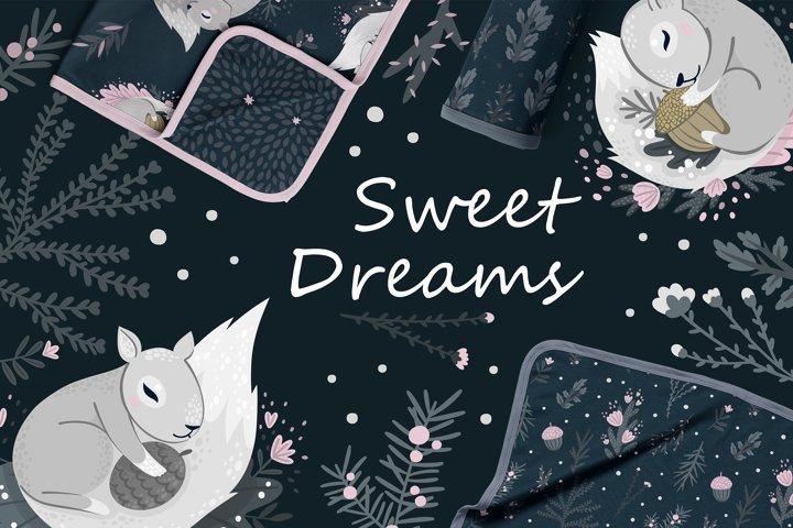Nursery Art Bundle for Children Bed Linen - Sweet Drea