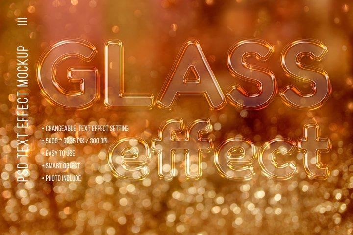 Glass text effect Mockup