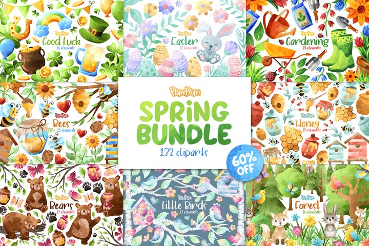 Spring Clipart Bundle