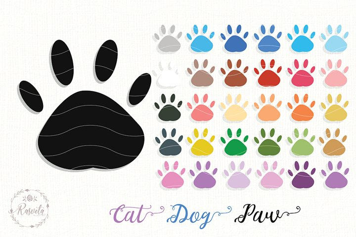 Animal Paw Footprint Clipart /2