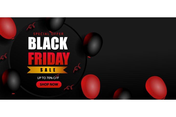 Black Friday Special Offer Red Black