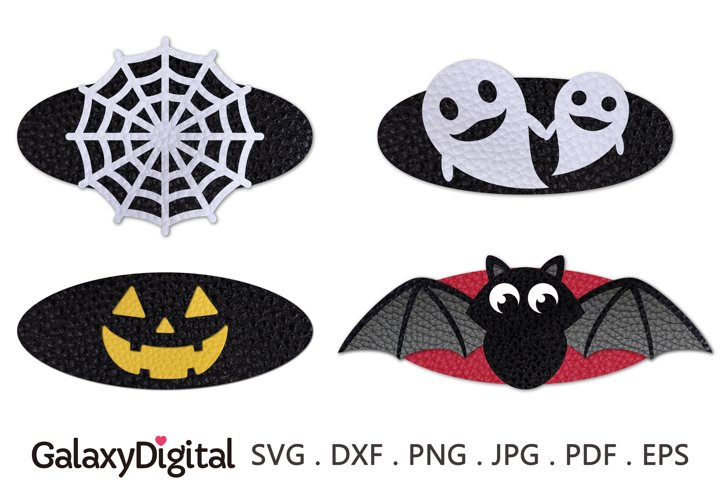 Halloween Snap Clip SVG, Hair Clip Cover Template SVG