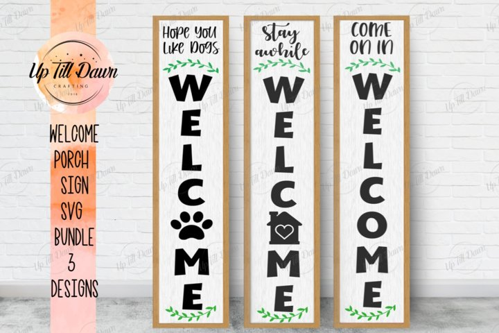 Welcome Porch Sign SVG Bundle