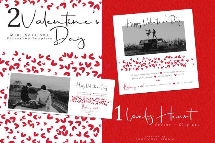 Valentines Day Mini Session Template