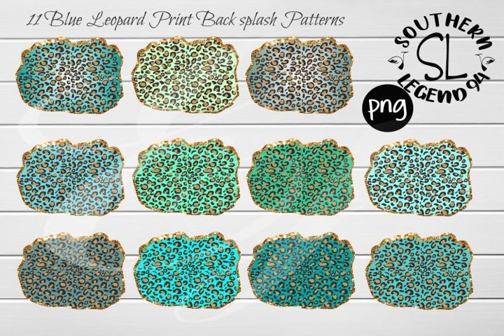 11 Blue Leopard Print Back Splash Patterns