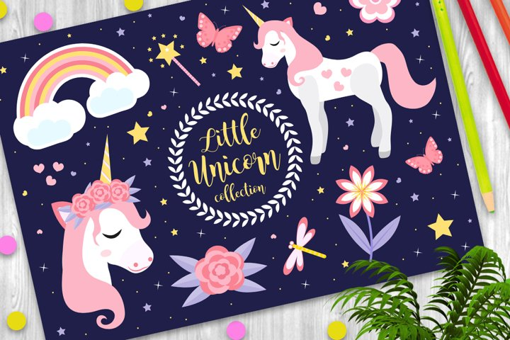 Cute little unicorn set