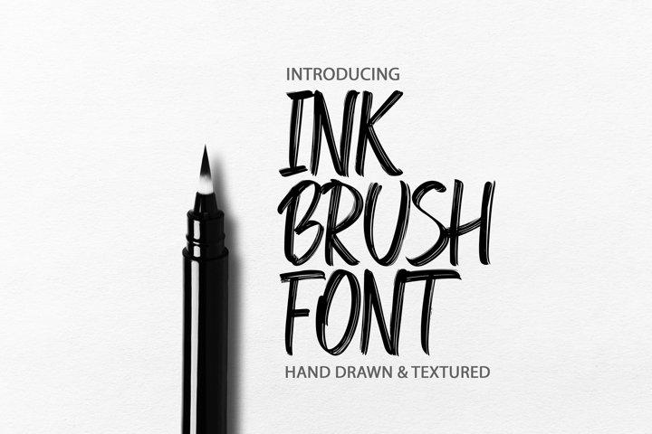 Ink Brush Font. Handwritten textured brush Font.